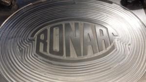 Aluminium CNC milling, Ronart Logo
