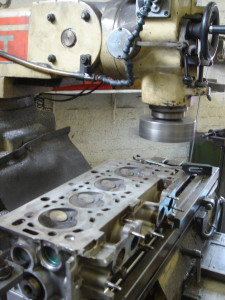 Cylinder head machining