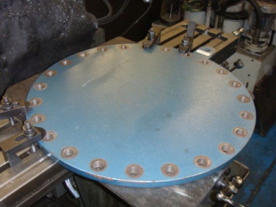 Steel boiler plate, 500mm diameter and 25mm thick