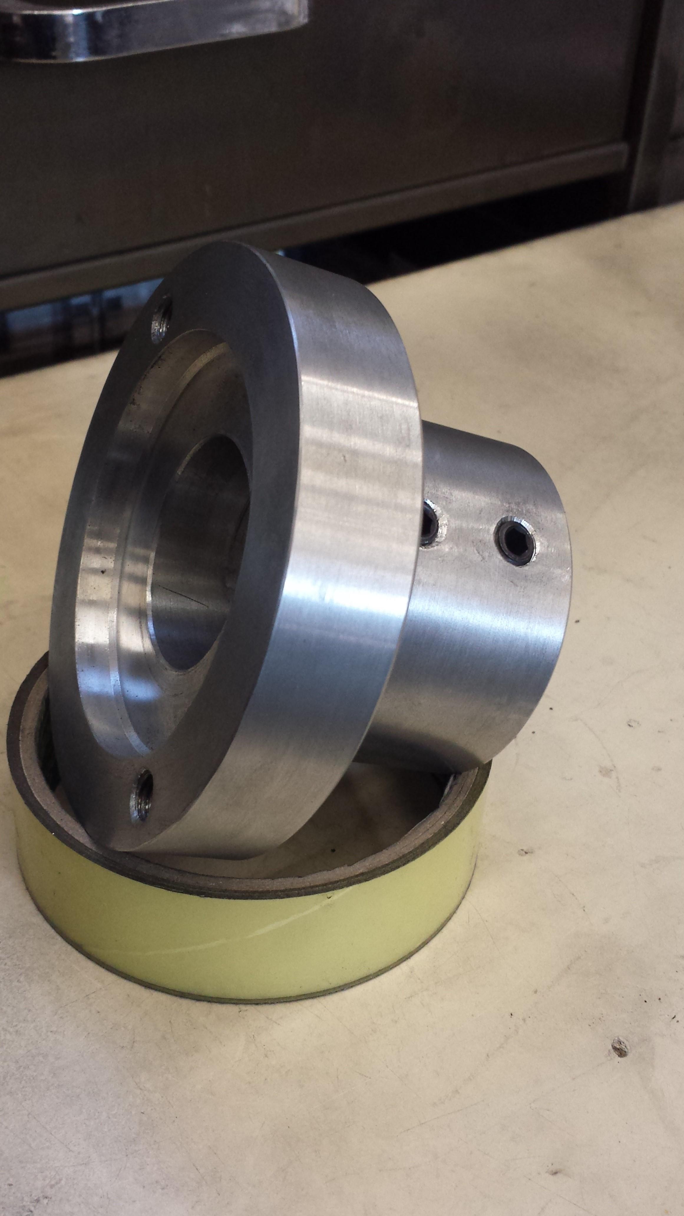 Aluminium pump adaptor